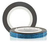 Декоративная самоклеющаяся нить-скотч для дизайна ногтей синяя (лента для ногтей)