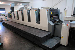 Komori L-528 + лак б/у 2004г - пятикрасочная печатная машина с лакировкой