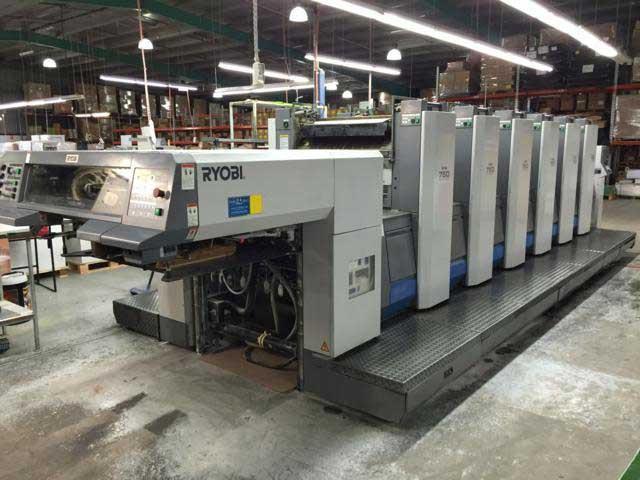 Ryobi 756 б/у 2005г - шестикрасочная печатная машина