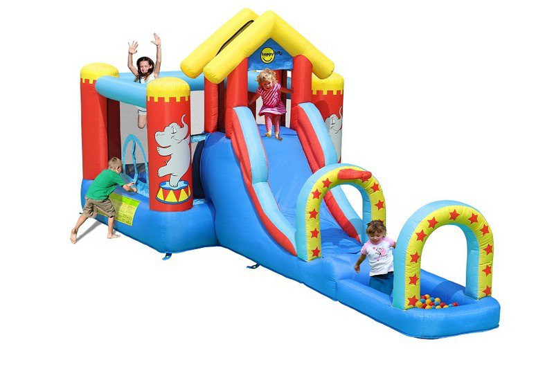 Игровой центр надувной детский HAPPY HOP Цирк 9023 550x220x225cм