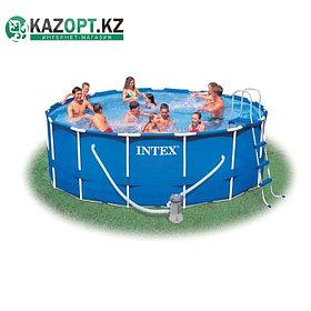 Бассейн каркасный круглый Intex 305х76 см (в комплекте: насос с фильтром 220V)