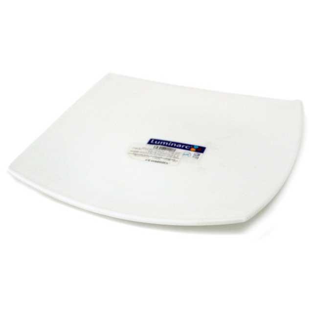 Тарелка Luminarc обеденная Quadrato белая 26 см (J0592/D7199)