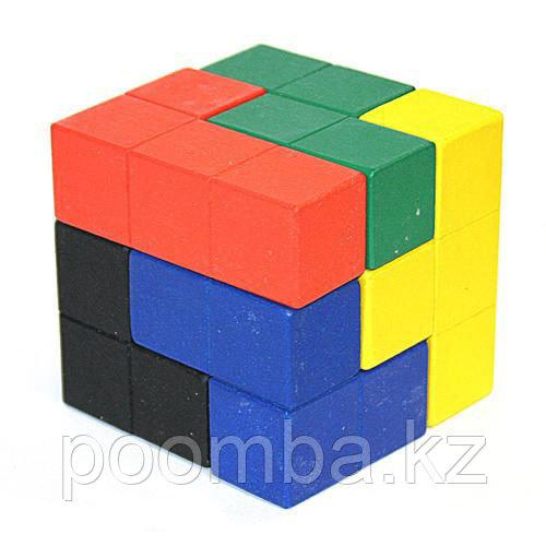 Головоломка деревянная Кубик-тетрис