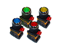 Кнопка ABLFP 22 220 с подсветкой желтая