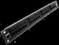 """AMP Патч-панель  коммутационная 24 порта/RJ45/кат.5е/неэкр./19""""/1U черная. , фото 1"""