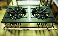 Газовая промышленная плита (2 конфорки, 3 круга пламени)
