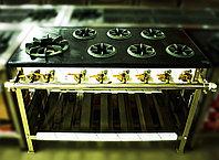 Большая газовая промышленная плита (7 конфорок)