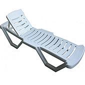 Шезлонг-лежак пластиковый «Capissi»