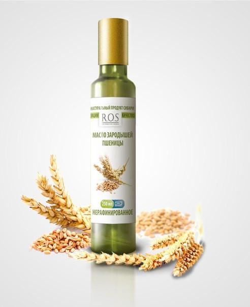 Масло зародышей пшеницы, 250 мл (в стеклянной бутылке)