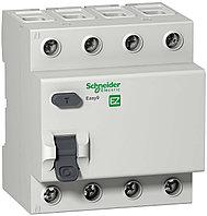 Дифференциальный выключатель нагрузки Easy9 4П 40А 30мА AC