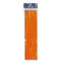 Бумага цветная крепированная (оранжевый) 50*250