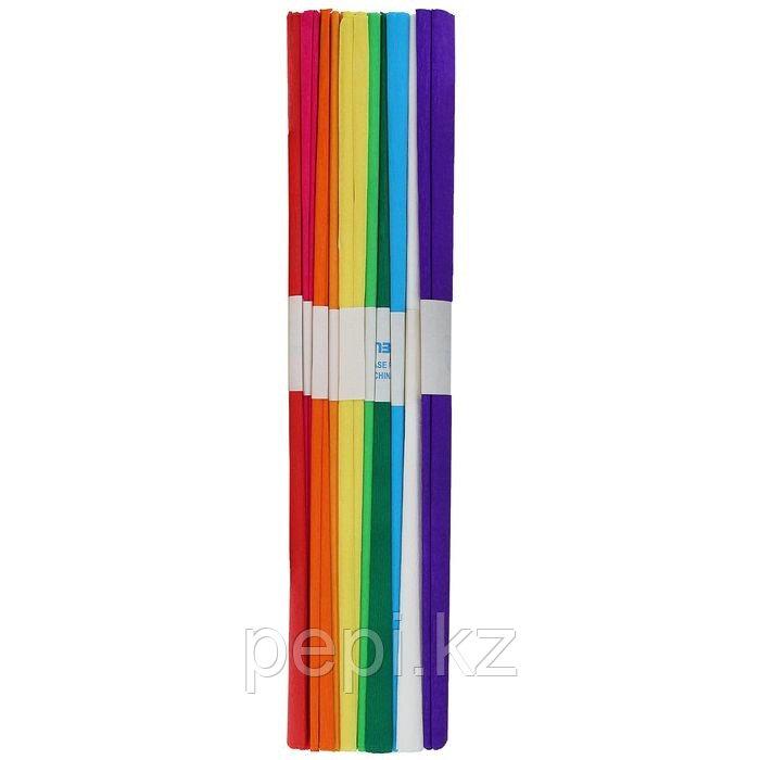 Набор бумаги крепированной 10шт 10цв 50*250см 32 г/м в пакете