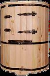 Кедровая бочка овальная «Профессиональная» со скосом, фото 3
