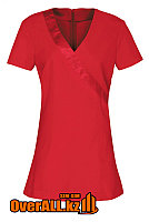 Красная форменная блузка, топ
