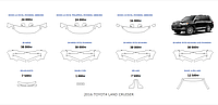 Toyota Land Cruiser 2015-2016 г.в готовые лекала, полиуретановая пленка SunTek