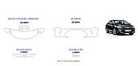 Toyota Camry55 2015-2016г.в. готовые лекала, полиуретановая пленка SunTek