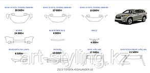 Toyota HIGHLANDER 2015-2016г.в. готовые лекала