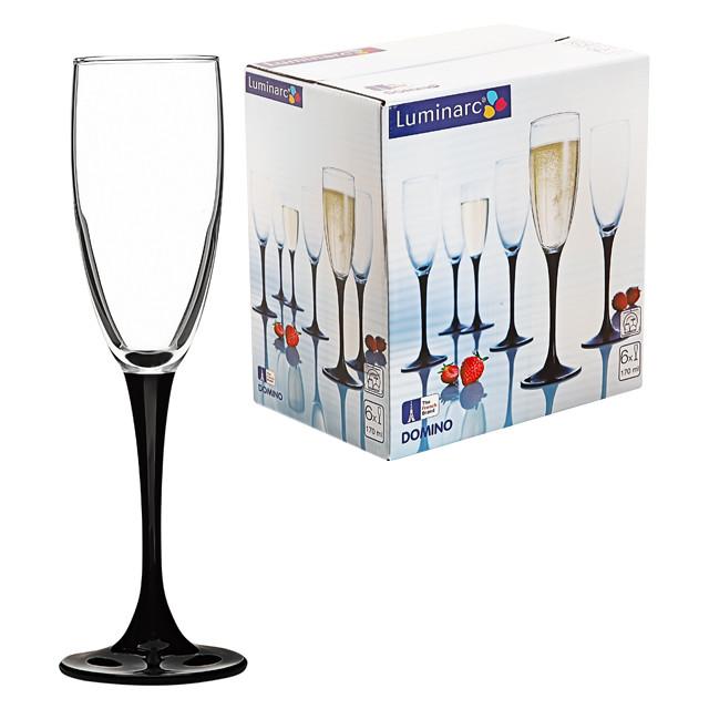 Набор фужеров для шампанского Luminarc Domino 170 мл (6 штук)