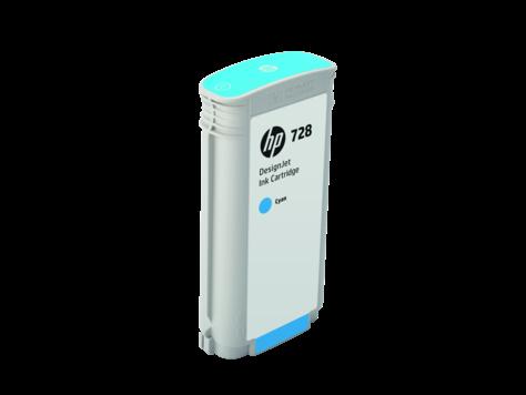HP F9J67A Картридж голубой HP 728 130-ml Cyan Ink, для DesignJet T730, T830 MFP