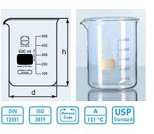 Стакан лабораторный низкий Н1-100 мл с делениями (Duran)