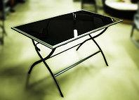 Металлический обеденный стол, 75х130х70см