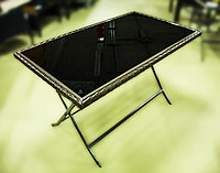 Металлический обеденный стол, 70х120х70см