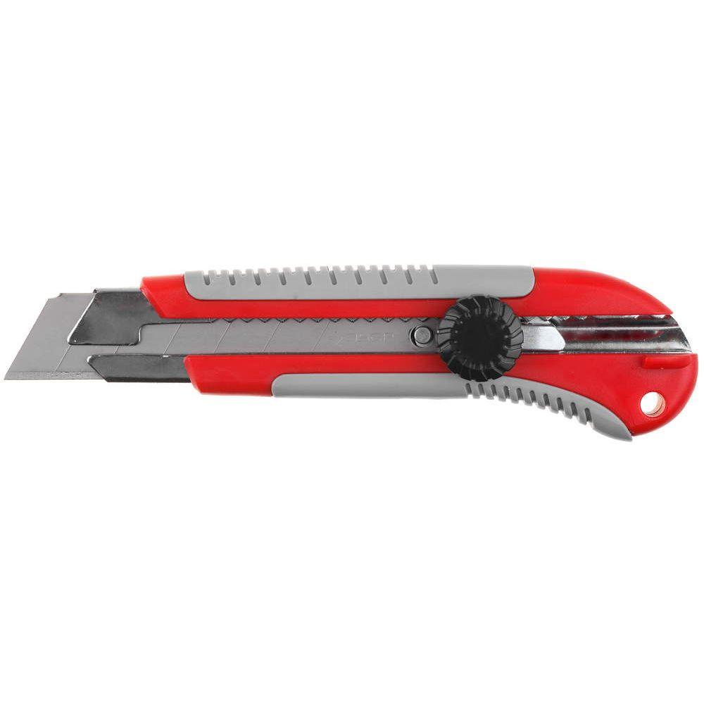 """Нож ЗУБР """"ЭКСПЕРТ"""" с запасными сегментированными лезвиями 6шт, 18мм"""