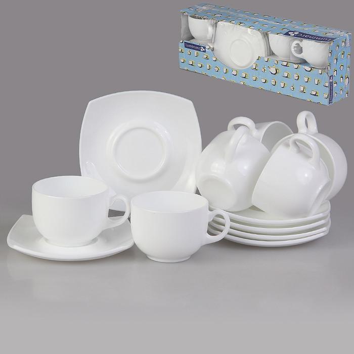Чайный сервиз Квадрато Quadrato white 220 мл (E8865)