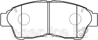 Тормозные колодки KEBO CD2118M