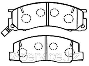 Тормозные колодки KEBO CD2106M