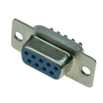 DB-9F(RS232) гнездо 9 pin на кабель (пайка)