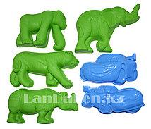 """Формочки Игрушки для кинетического песка 6 фигур """"Звери и тачки"""" (игрушки для песочницы)"""