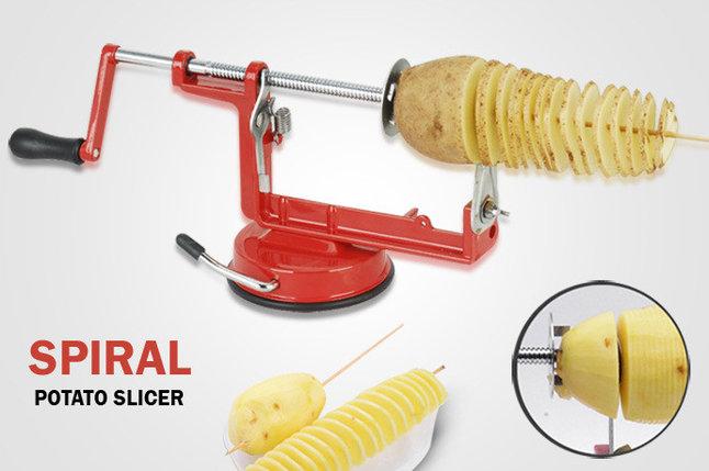 Овощерезка для нарезки спиральных картофельных чипсов, фото 2