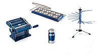 Marcato Pasta Set Le Cadeau Blu, лапшерезка ручная тестораскатка, стойка для лапши, пельменница, сито для муки
