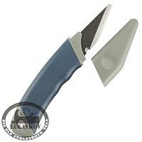 Нож-косяк японский, 165мм*18мм*2мм, правая заточка, пласт.рукоять, пласт.ножны