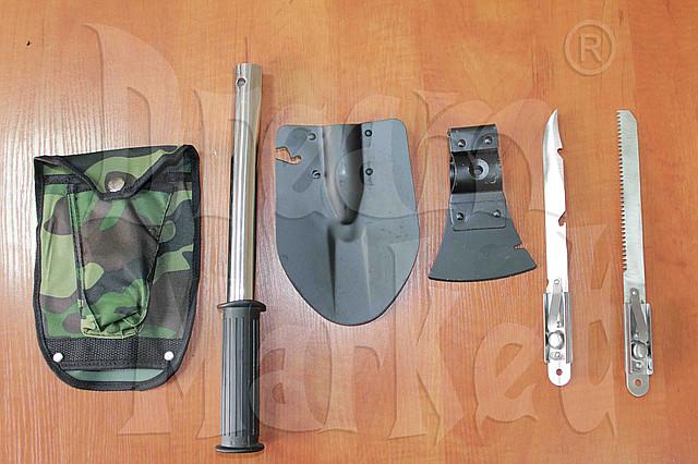 Лопата походная, складная, универсальная, нож, пила, топор