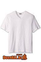 Белая футболка с V-образным вырезом, фото 1