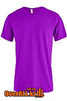 Фиолетовая футболка с V-образным вырезом, фото 1