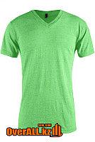 Светло-зеленая футболка с V-образным вырезом, фото 1