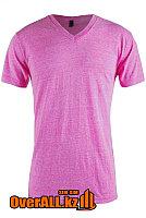 Розовая футболка с V-образным вырезом, фото 1