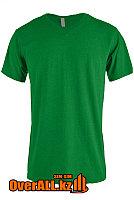 Зеленая футболка с V-образным вырезом, фото 1