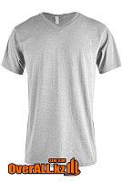 Светло-серая футболка с V-образным вырезом, фото 1