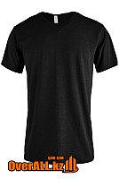 Черная футболка с V-образным вырезом, фото 1