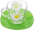Чайный набор Luminarc Paquerette Green на 6 персон 220 мл 12 единиц (G1988), фото 2