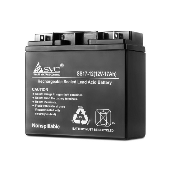 SVC VP1217 Батарея Свинцово-кислотная 12В 17 Ач, Размер в мм.: 166*78*182