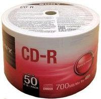 ДИСК CD-R Sony 700 MB CDQ80SB  50 шт  700 MB CDQ80SB