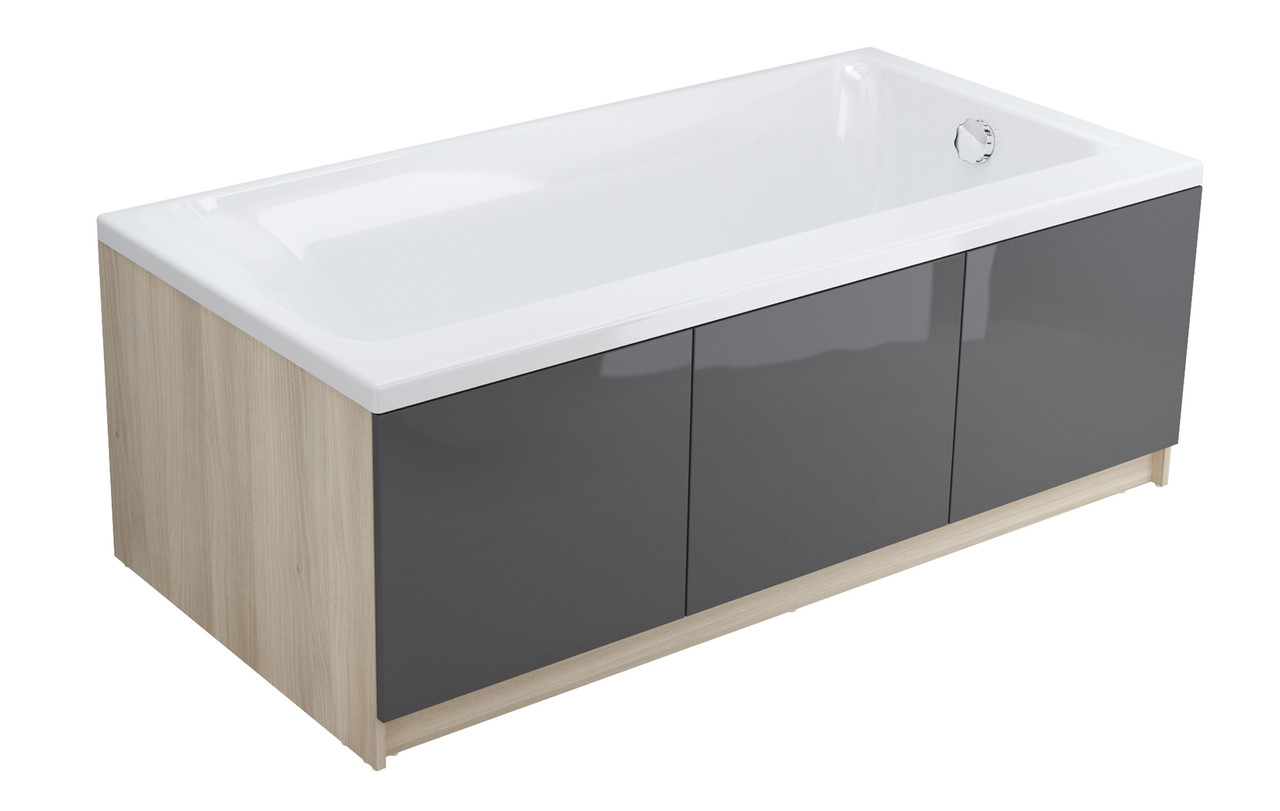 Модуль для ванны Cersanit SMART 170, фронтальный, серый, Сорт1(P-PM-SMART*170/Gr)
