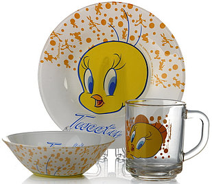Набор детский Pasabahce 3 предмета Tweety (95827)