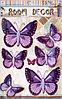 """Наклейки """"Бабочки"""" 3D фиолетовые"""