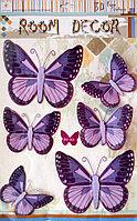 """Наклейки """"Бабочки"""" 3D фиолетовые, фото 1"""